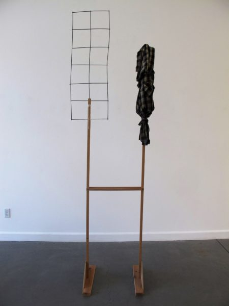 Not for Sale Sign, 2017, wood, wire, textile