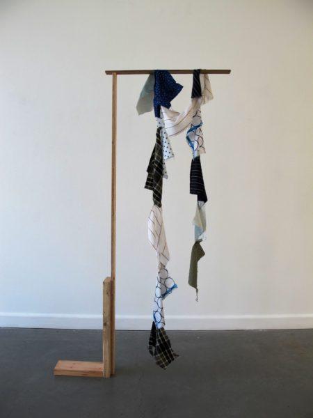 Crane: Soft Subversion, 2017, wood, textiles