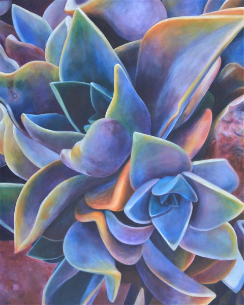 Tara Esperanza, California Sunset (2020), acrylic on canvas, 52 x 42 photo by artist